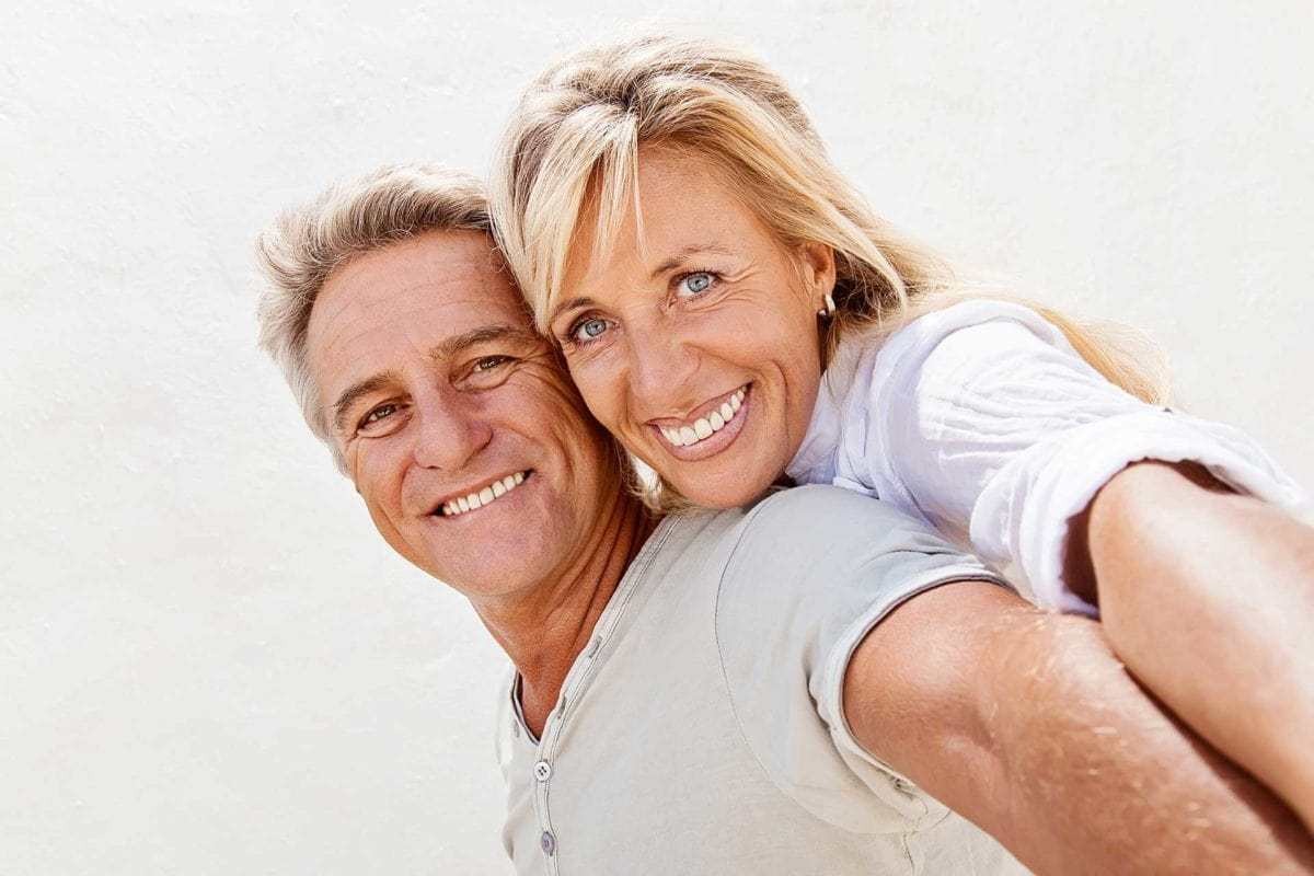 denture patient with wife