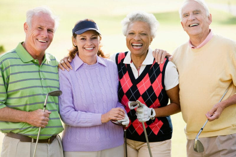 group of our dental patients on golf course