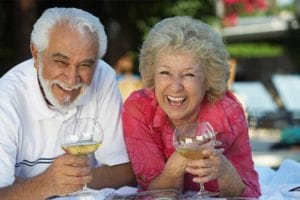 goodyear dental implant patients drinking wine